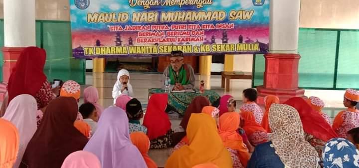 Peringatan maulid nabi muhamad saw paud dan tk desa sekaran di masjid al ikhlas